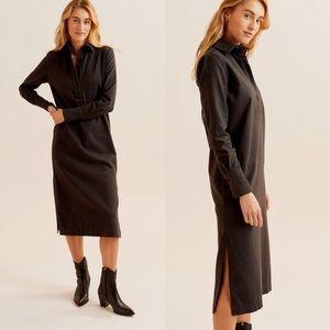 Kotn popover flannel dress